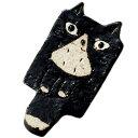 黒猫 食器 箸置き ネコ型/ 手作り黒猫・箸置 /ゆるかわ ネコ型 耳が可愛い ねこ顔 贈り物