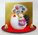 【スーパーセールポイントUP!】 干支 酉 置物 土鈴 鳥 酉 縁起飾り(招き猫付き) 10P03Dec16