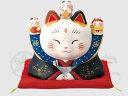 幸運 招福 縁起物 招き猫 彩絵福の神福助招き猫(4号)