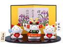五月人形 コンパクト 出世 こどもの日 猫 五月人形 錦彩ね...