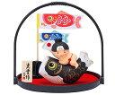 五月人形 コンパクト 五月人形 錦彩鯉のぼり桃太郎(丸手籠付)