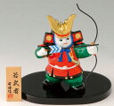 五月人形 コンパクト 若武者弓取り(白磁)