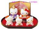 【ひな人形 ひな祭り】 ハローキティ 雛飾りセット