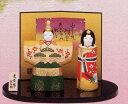 【送料無料】陶器のぬくもりが感じられる繊細でやさしい雛人形3月3日到着は2月26日注文分まで!錦彩立雛(白梅)