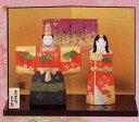 【送料無料】陶器のぬくもりが感じられる繊細でやさしい雛人形3月3日到着は2月26日注文分まで!錦彩立雛(松竹梅)