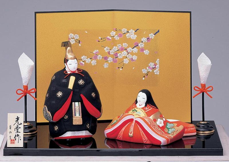 日本陶器のぬくもりが感じられる繊细でやさしい雏人形3...
