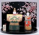 【送料無料】陶器のぬくもりが感じられる繊細でやさしい雛人形3月3日到着は2月26日注文分まで!錦彩立雛(紅白梅・蒔絵屏風付)
