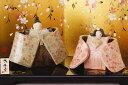 雛人形 コンパクト 陶器 小さい 可愛い ひな人形/ 人形師の手造り雛人形 豊大窯作 花舞立雛飾り /ミニチュア 初節句 お雛様 おひな様 ..