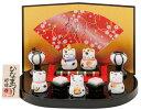 【ひな人形 ひな祭り】豆猫雛飾り 白磁