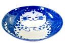 和食器 楕円皿 深皿 19.5cm/ ねこちぐらブチ 6.0...