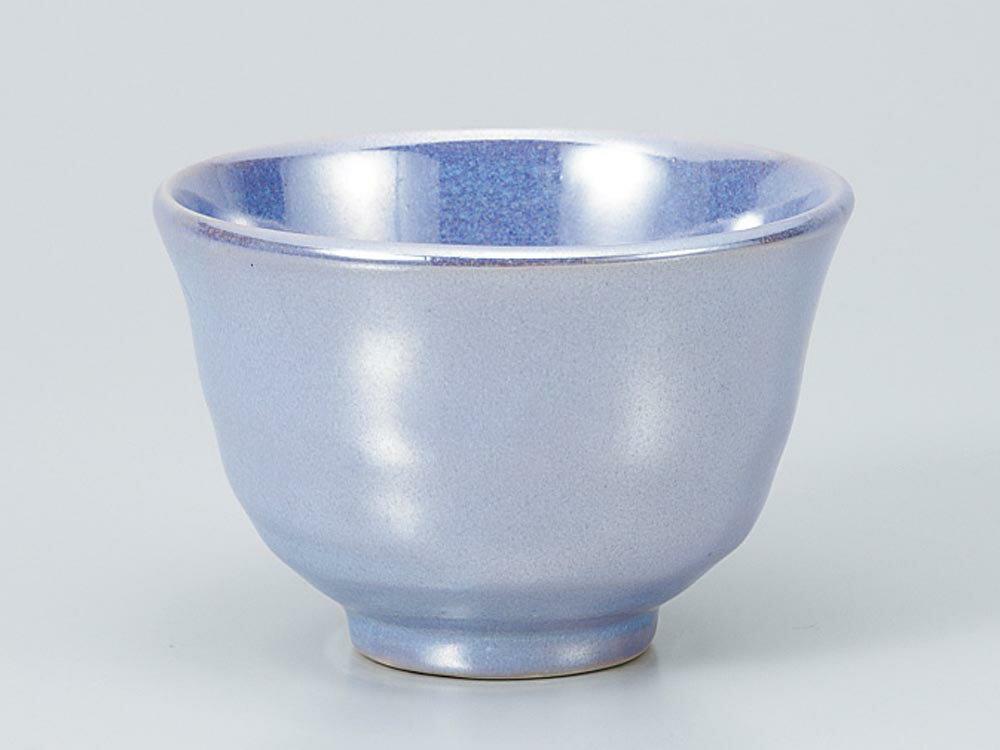 湯呑いっぷく碗/あそび碗ブルーラスター/日本茶抹茶お茶を愉しむ陶器