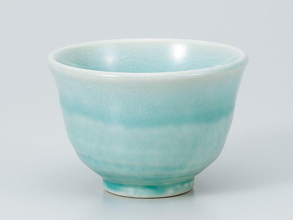 湯呑いっぷく碗/あそび碗ブルー/日本茶抹茶お茶を愉しむ陶器