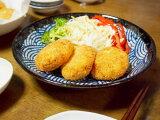 [文书] [盘]和食请使用作为一个正常的盘子安排。翻译不提供7.5波峰面条盘[7.5麺皿 青海波]