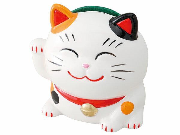 蚊取り線香入れ 陶器 蚊取り線香ホルダー アウトドア 招き猫蚊遣器(ミケ・小)