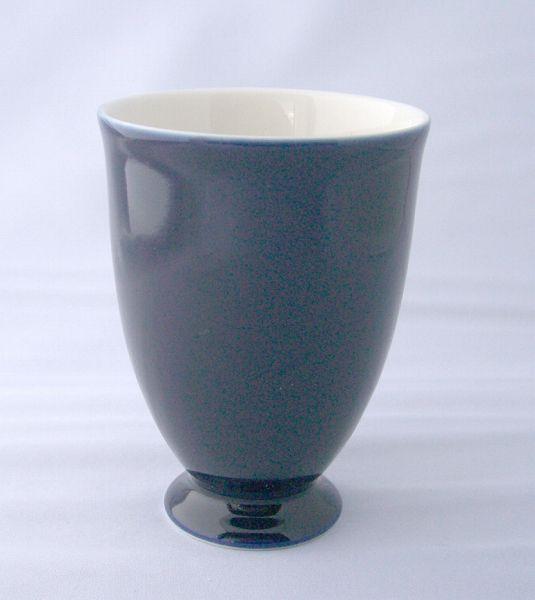 コップ 陶器 ワイン 高台 タンブラー カップ/ 瑠璃色ゴブレット/ 業務用 家庭用 おもてなし パーティー フリー カップ ワイン おしゃれ インスタ