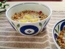 【フローラ ボール】13.1cm ボウル 550cc【casual style 洋食器 和食器 北欧風 中鉢 北欧雑貨 シンプル・ナチュラル 藍 ボール】