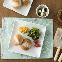 角皿 正方形 20.4cm 日本製 陶器 食器 洋食器 白い食器 ホテル食器 レストラン食器 カネスズ kanesuzu プレート マルチプレート スクエアプレート 中皿 角皿 取り皿 盛り皿 四角 シンプル カフェ風 おしゃれ 業務用