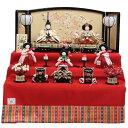 雛人形 五人三段飾り おぼこ雛 hn42-50 9hs1675 幅69cm 小出松寿 市川伯英 頭 (193to1677) 雛祭り