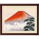 額絵 日本画[富士山水画] 【赤富士飛翔】 [F4] [伊藤渓山] [G4-BF041-F4]【代引き不可】