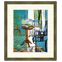 世界の名画 アンリ・マティス 窓:忘れな草の室内 F8 [g4-bm202-F8] インテリア