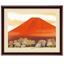 日本画 伊藤渓山 赤富士(あかふじ) F6 富士山水画 [g4-bf046-F6] インテリア