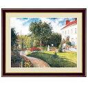 世界の名画 カミーユ・ピサロ マチュランの庭 ポントワーズ、ドレーム夫人の邸宅 F6 [g4-bm197-F6] インテリア
