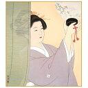 色紙絵 伝統の美人画 【簾越しの女】 清水玄澄 [K7-003]【代引き不可】