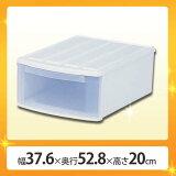 プラスチック製 衣装ケース ES アイリスオーヤマ 幅37.6×奥行52.8×高さ20cmチェスト 収納ボックス クローゼット 引き出し 送料無料 引き出し式収納 引出式 クローゼット収納 クリアチェスト クリアボックス 中身が見える