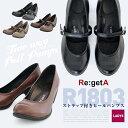 Re:getA リゲッタ R-1803 ストラップ付き ヒールパンプス regeta リゲッタシンプルパンプス 6cmヒール 日本製レディースパンプス pumps