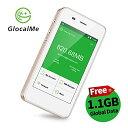 【あす楽】GlocalMe G3 モバイルWiFiルーター simフリー 1.1ギガ分のグローバルデータパック付け 4G高速通信 世界100国 地区以上対応 iPhone Xperia Huawei Galaxy iPadなど対応 5350mAh充電バッテリー搭載 ポケットwifi(ゴールド)
