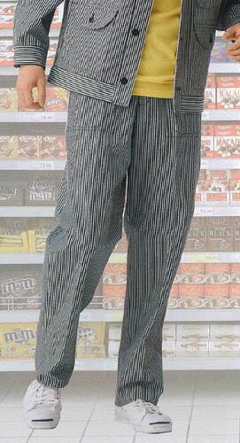 パンツ ストライプ柄 男性用メンズ 制服 ユニフォーム花屋 本屋 スーパー 清掃 メンテナンス業務用 ユニフォーム(制服)薬局,花屋,本屋,スーパー,ショップ用ベスト,スカート,パンツ,エプロンの専門店♪※商品は単品での販売です