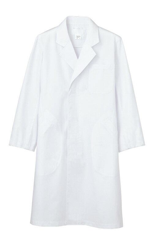 メンズ シングル コート 長袖白衣 医療 男性白衣ドクター 診察衣白