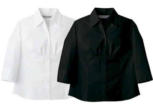 デザインシャツ 7分袖 レディース女性用 飲食店 カフェ業務用