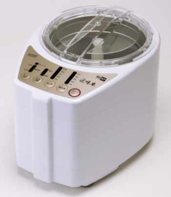 家庭用精米機【匠味米】RC57シリーズ【山本電気】 料理人・道場六三郎の食味評価により、精米状態を決定しプログラム化。