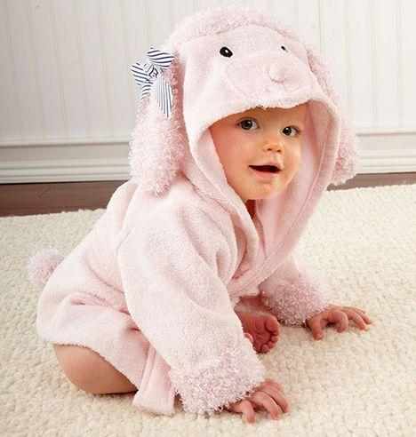 【送料無料】プードル 子ども用バスローブ さわり心地抜群で気持ちがいい。お風呂上りのお子様にピッタリのバスローブです!!超Kawaii子供用バスローブが登場です!!!
