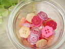 【ボタン】手芸 ボタン プラスティックボタン ポリボタン20個セット(フルーツゼリー)