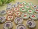 【手芸】ボタン ウッドボタン、陶器風お花のデザイン25個セット