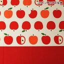 コットンオックス 生地 りんご 綿100% 布 手芸 アップル 通園 通学 入園 入学