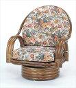 【送料無料】 回転座椅子ミドルタイプ S-582Bブラウン 籐 籐家具 座椅子 椅子 イス 回転式 和風リビングルーム籐ラタン製 輸入品 完成品 【smtb-MS】