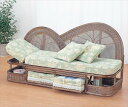 籐カウチソファ Y-500B ブラウン 籐 籐家具 カウチソファ ソファ アジアンリビングルーム籐ラタン製 輸入品 完成品
