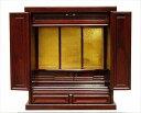 【代引不可】 上置仏壇18号 ダークブラウン 上置仏壇 仏壇 収納 上置 単品 和風 和室 木製 輸入品 完成品