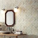 【 壁紙 のり付き 】 壁紙 のりつき クロス クラシック タイル風 スクエア 幾何学模様 不燃 防かび サンゲツ RE-8058