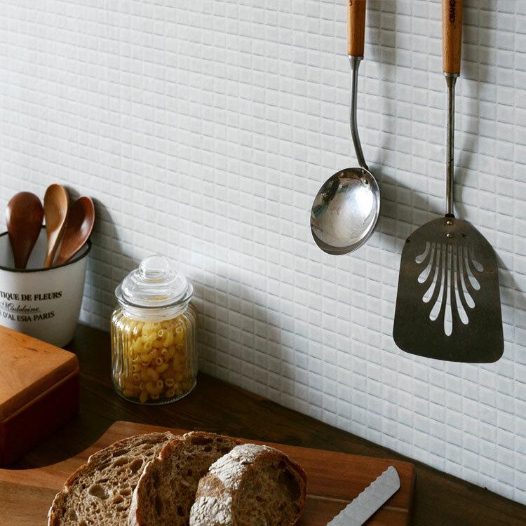 RoomClip商品情報 - 貼ってはがせる シール壁紙 リメイクシート「Hatte me(ハッテミー)」モザイクタイル柄 ホワイト MOSA-01(65cm×1m)