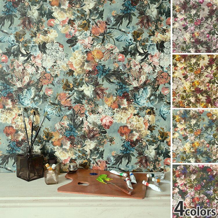 RoomClip商品情報 - 【楽天カードでポイント最大45倍!12/10限定】【数量限定】 花柄の壁紙はってはがせる 輸入 壁紙ドイツ製 ラッシュ Passepartout 1ロール(53cm×10m)単位で販売フリース壁紙(不織布)