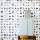 輸入壁紙 オランダ製 スタジオ・ディッテ Cars1ロール(48.5cm×6m)単位で販売フリース壁紙(不織布) 【海外取寄】