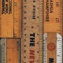 RoomClip商品情報 - 輸入壁紙の切り売り(幅48.7cm×1m単位で切売)NLXL LAB エヌエルエックスエル・ラボ NLXL LAB / PRINTED RULERS WALLPAPER  MRV-06【国内在庫】