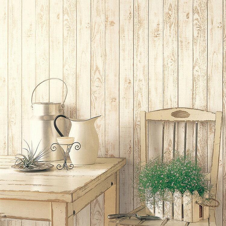 壁紙 のり付き 木目 白 クロス おしゃれ 壁紙 1m単位 ナチュラル 板壁 壁紙張り替え diy リフォーム 国産壁紙 生のり付き SFE-1257