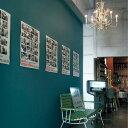 【 壁紙 のり付き 】生のり付き 壁紙 (クロス)/ターコイズ・ブルーグリーンの壁紙 SLL-8722