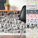 貼ってはがせる壁紙[「Papinet(パピネ)」yukari sweeney design(巾48cm×6m)]【受注生産のため10営業日以内で発送】