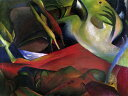 アートパネル 10cm単位でサイズオーダーできる 絵画 壁掛け インテリア 壁飾り キャンバス アート ウォール アウグスト・マッケ 嵐 e10385